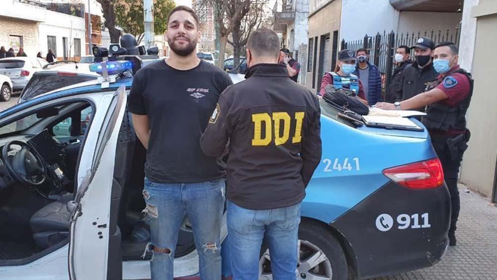 El detenido fue identificado como Agustín Fernando Viera Alayón.