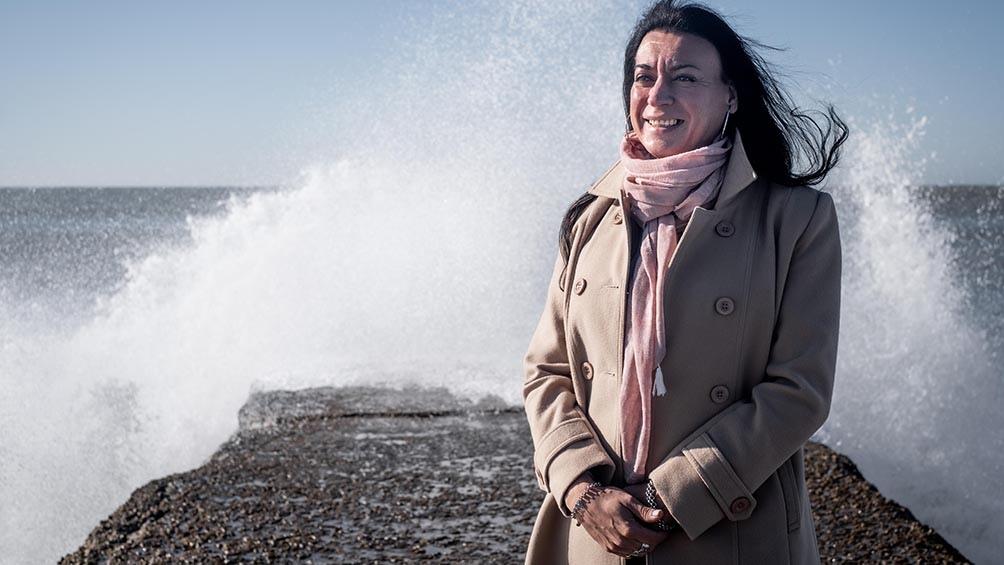 Daniela Castro, precandidata a diputada nacional del Frente de Todos en la lista que encabeza Victoria Tolosa Paz. Foto: Diego Izquierdo