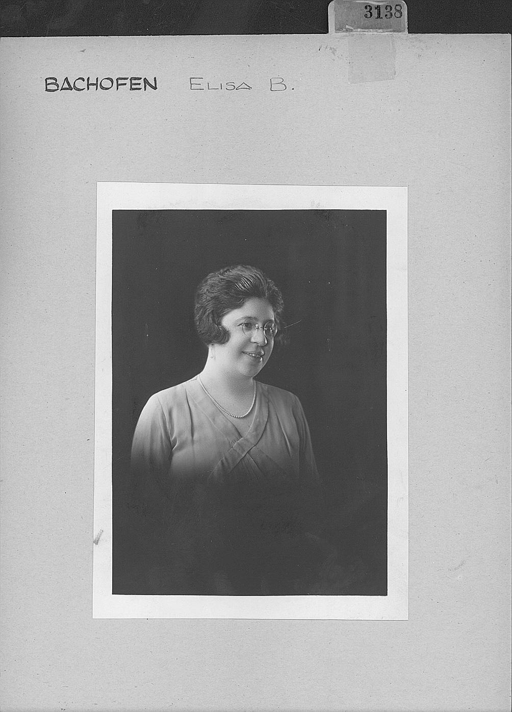 Elisa Bachoffen. Foto: Archivo General de la Nación