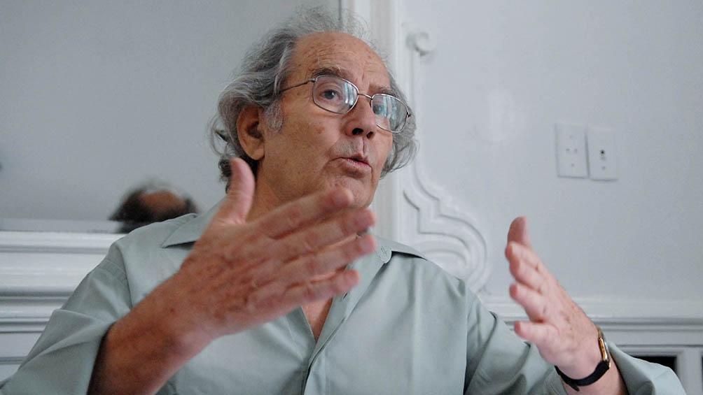 Adolfo Pérez Esquivel, Premio Nobel de la Paz en 1980 y profesor en la Facultad de Ciencias Sociales de la UBA.