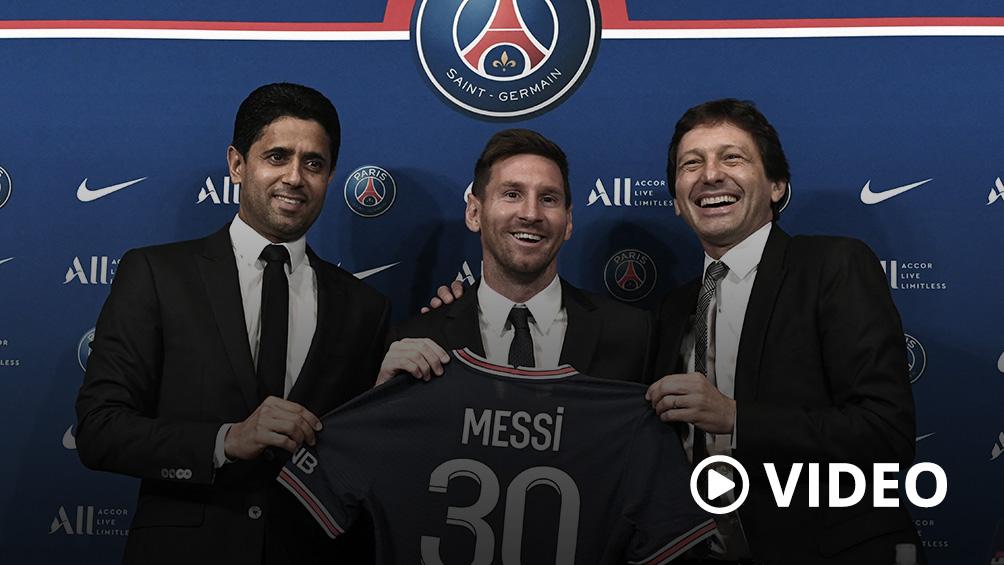 Messi, en su presentación en el PSG: