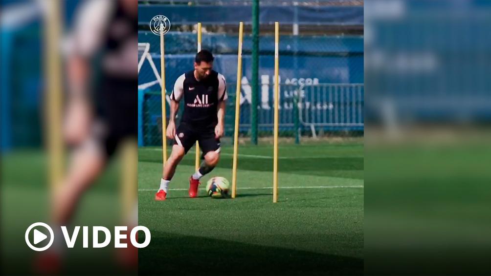 Messi ya entrena junto a sus nuevos compañeros en el París Saint Germain