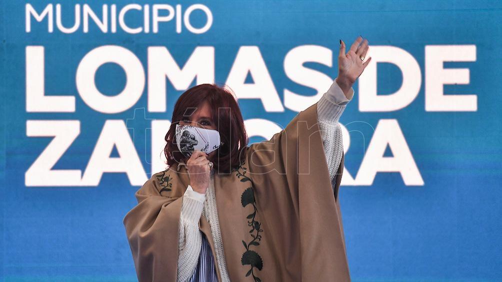 Cristina Fernández de Kirchner en Lomas de Zamora. Foto: Víctor Carreira.