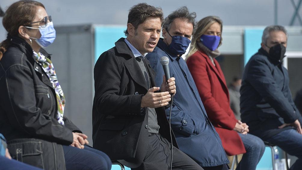 """Kicillof expresó: """"No queremos esconder más los problemas estructurales sino traer soluciones de fondo. Foto: Prensa Gobierno Provincia Buenos Aires"""