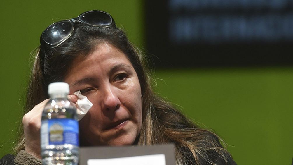 Castro participó de una conferencia de prensa junto a representantes de Amnistía.