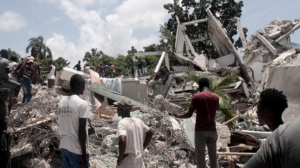 El sismo del 14 de agosto, provocó ya casi 2.200 muertes. Foto: AFP
