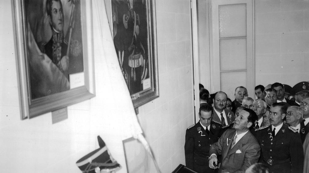 El 11 de agosto de 1946, el presidente Juan Domingo Perón inauguró el Instituto Sanmartiniano. (Foto: AGN)