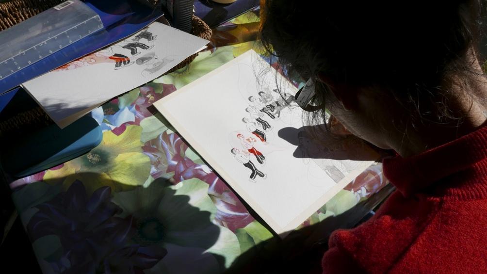 """En """"2 historias de amor"""" y """"Cotidiano de Lujo"""", Julia Barata,  ilustradora y arquitecta trató la vivencia de una mujer ante la crianza compartida, la carrera, el deseo, la pareja, la exigencia sobre el cuerpo."""