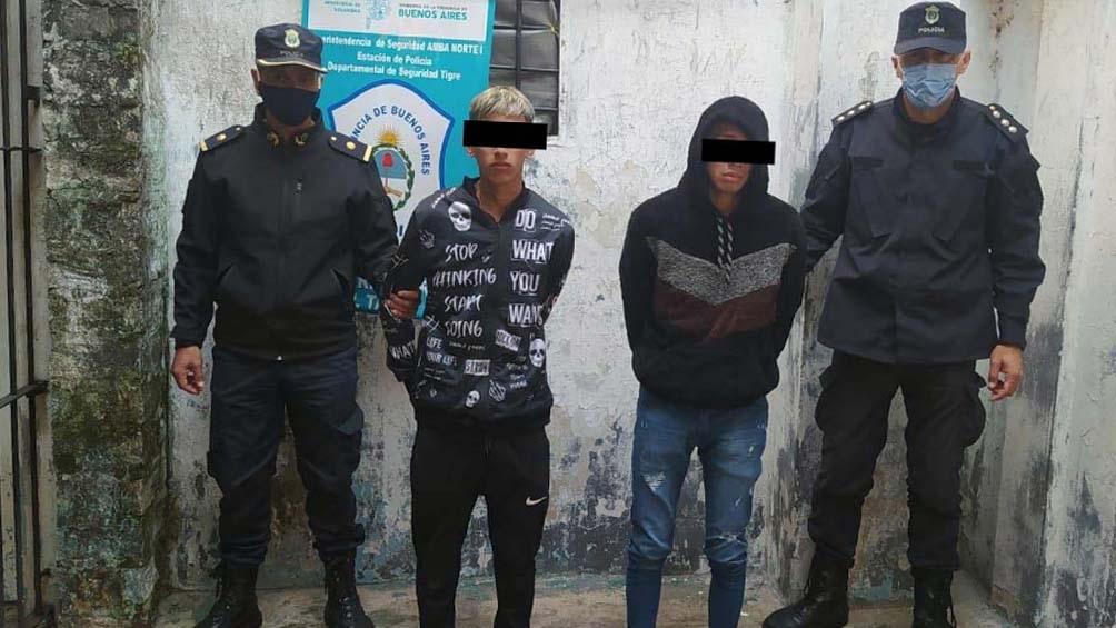 El fiscal indagó a los hermanos detenidos. Foto: Prensa Ministerio de Seguridad.