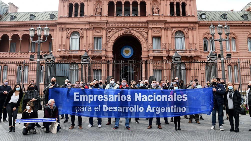 El acto realizado en el frente de la Casa Rosada. Fotos: Daniel Dabove.