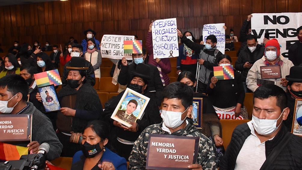 La presentación del informe de la Comisión Interamericana de Derechos Humanos. (Foto: ABI).