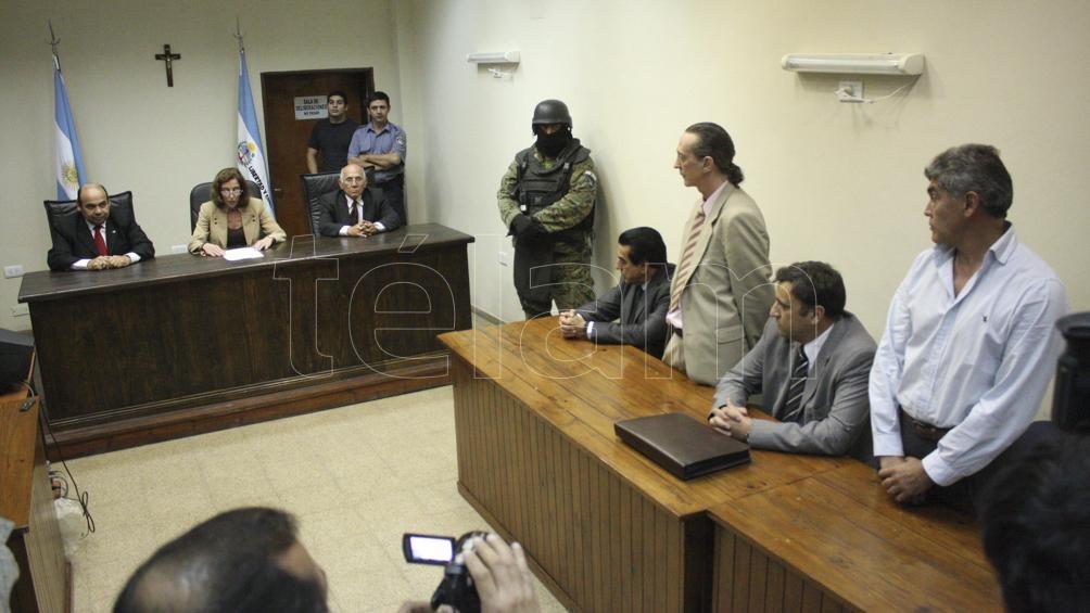 El tribunal que condenó a Menocchio por la muerte de Nozzi. También recibió otra pena de prisión perpetua por otra muerte en Chaco. (Foto: Juan Pablo Faccioli/Télam).