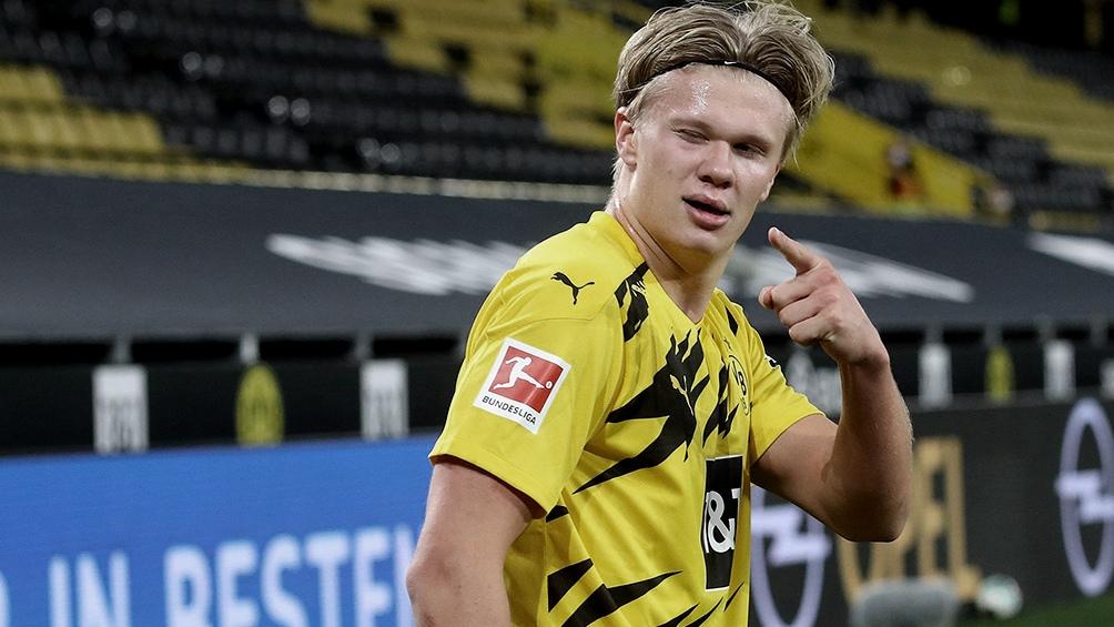 Erling Haaland la carta de gol del Borussia Dortmund.