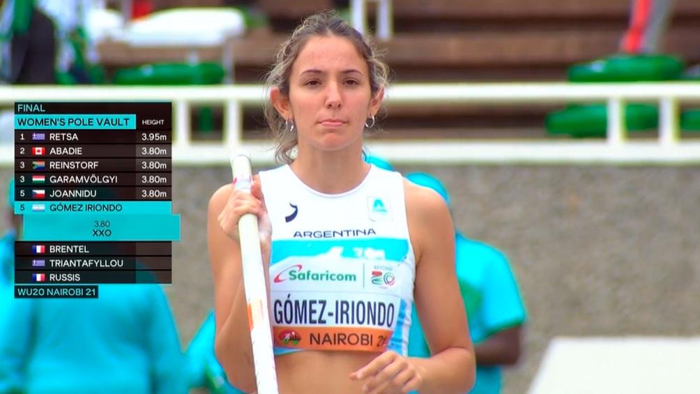 Luciana Gómez Iriondo tiene 17 años. Foto: TW DeportesAR