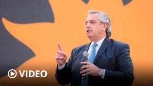 """Alberto Fernández pidió """"trabajar para que los derechos lleguen a cada argentino"""""""