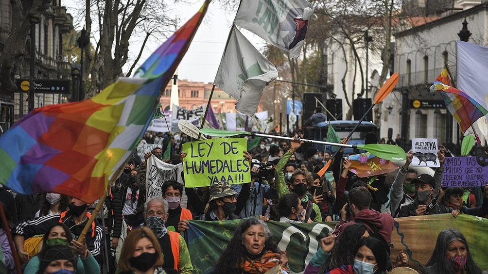 """""""La ley de humedales está cajoneada en Comisión de Agricultura y Ganadería"""", dijo Ivo Peruggino (Foto Victor Carreira)."""