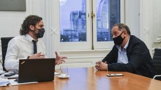Cafiero y Linares analizaron la situación de Chubut
