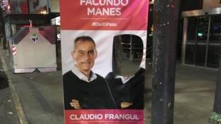 Manes denunció ante la justicia federal la destrucción de 100 carteles en La Plata