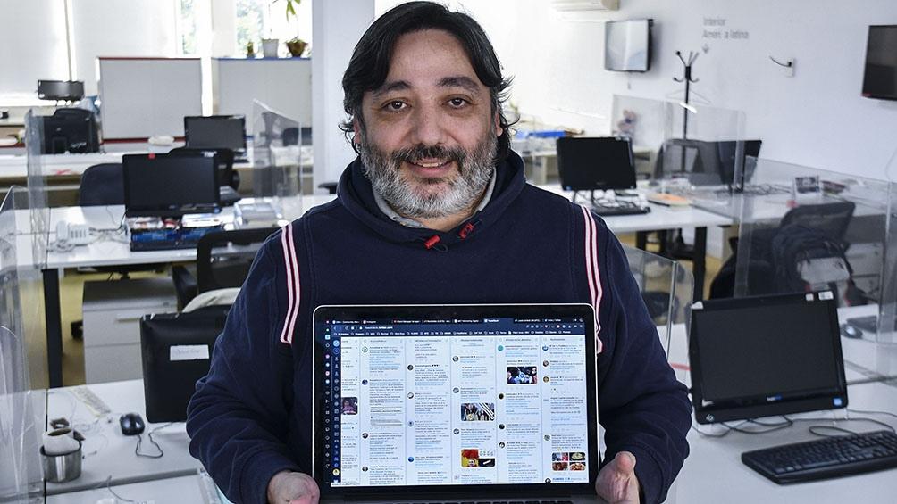 Alejandro Daniel José, un experto en seguridad informática que trabaja estrategias comunicacionales a través de su agencia MKT de marketing digital. Foto: Eliana Obregón.