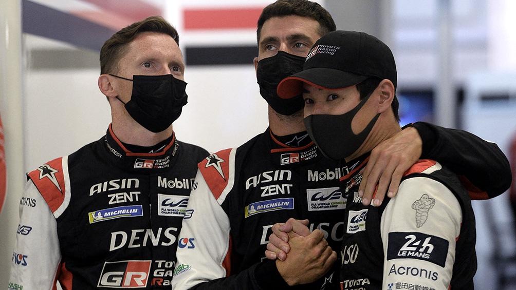 """""""Pechito"""" López lideró la preuba junto al británico Mike Conway y el japonés Kamui Kobayashi. Foto: AFP."""
