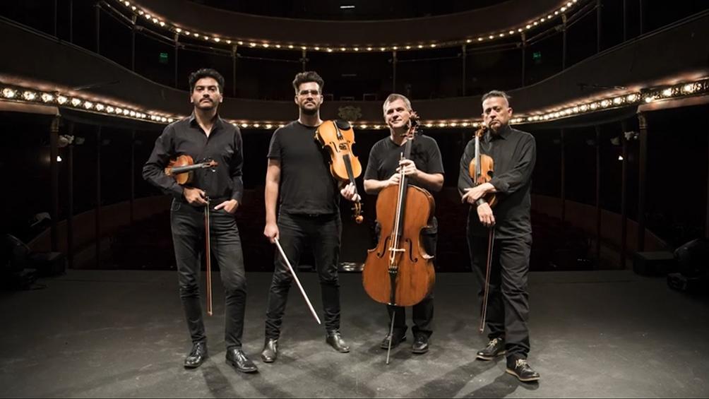 David Núñez y Carlos Brítez, violines, Martín Devoto, violoncello, y Mariano Malamud, viola.
