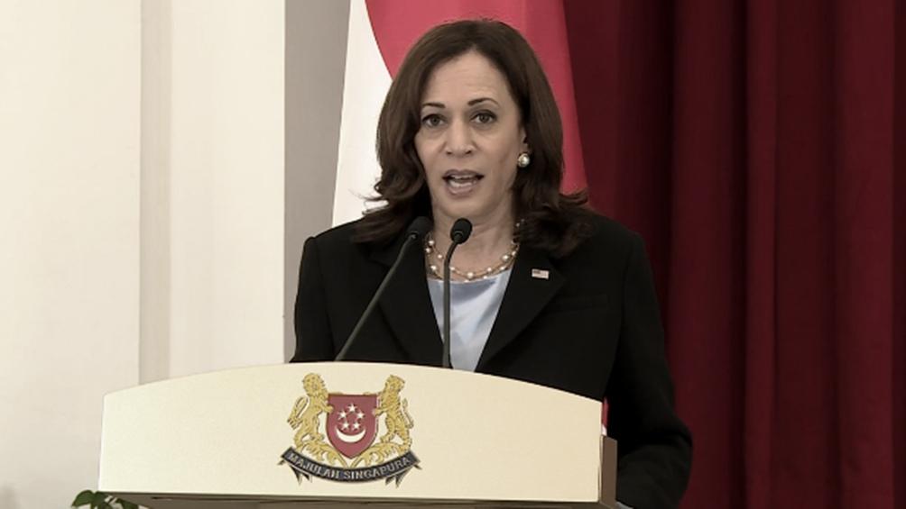"""La vicepresidenta de Estados Unidos, Kamala Harris, prometió un """"compromiso duradero"""" de su país en Asia."""