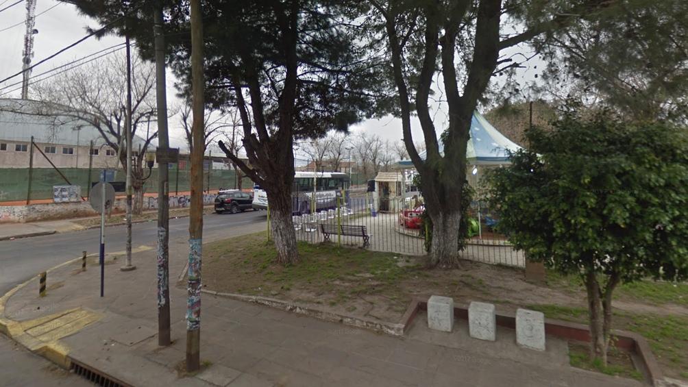 La plaza de los Bomberitos, donde se produjo el crimen. (Google maps).