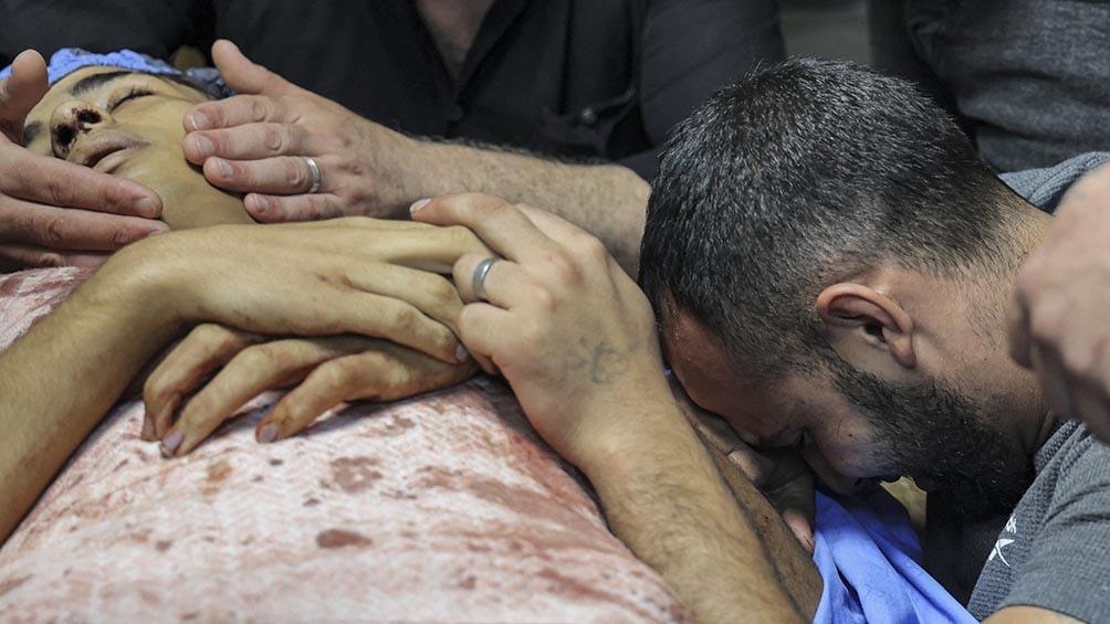 Imad Jaled Saleh Hashah, de 15 años, murió en el hospital de Naplusa
