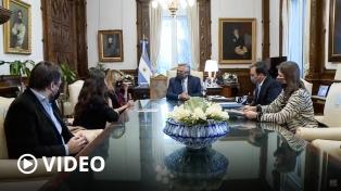 El Presidente recibió a familiares del policía desaparecido en 2019