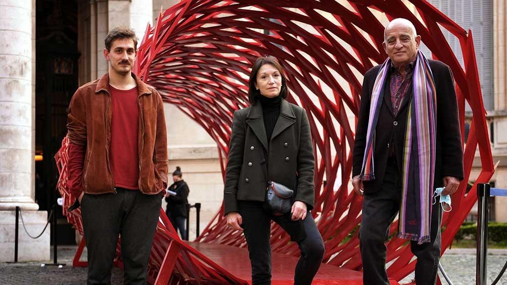Leandro Martínez Depietri, Diana Wechsler y Anibal Jozami.
