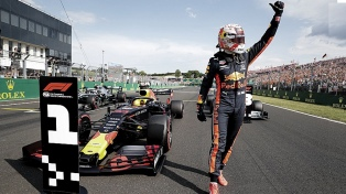 Max Verstappen hizo el mejor tiempo ante su gente en Zanvoort