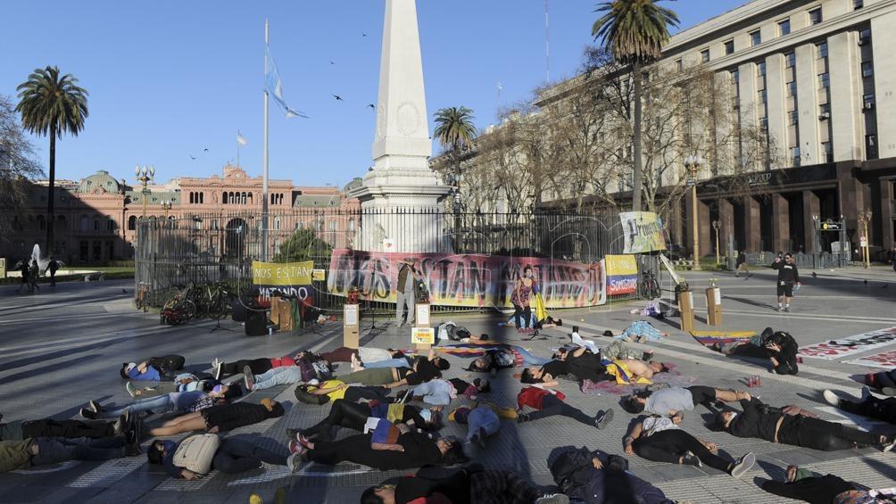 La marcha finalizó en Plaza de Mayo