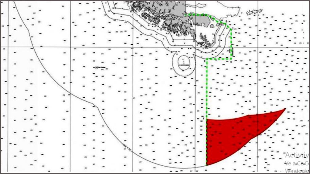 Chile se atribuye la facultad de proyectar la plataforma submarina continental al Este del meridiano 67º 16