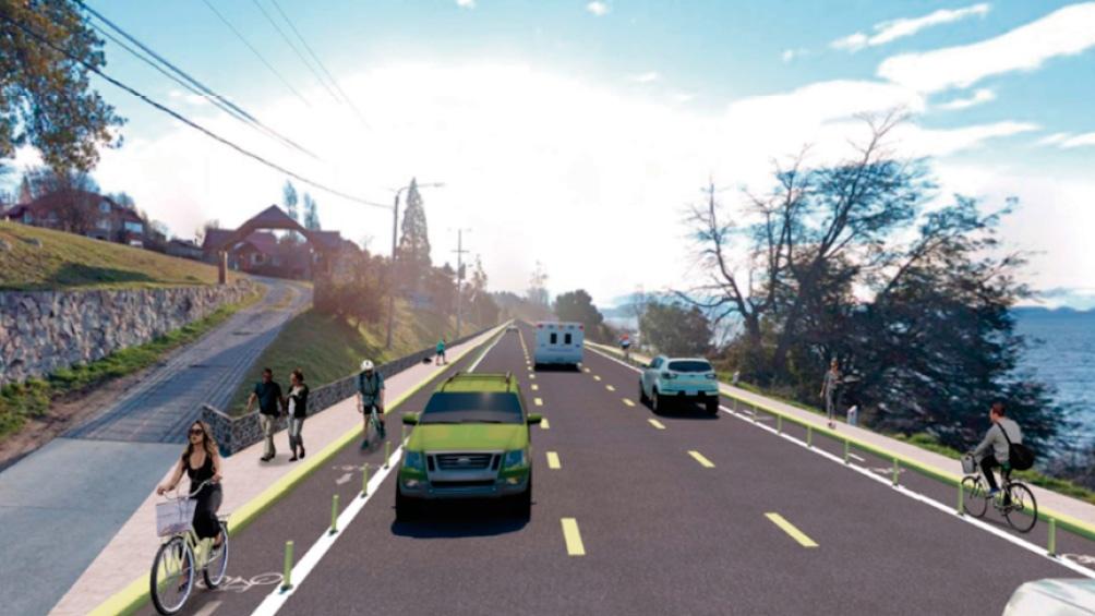 Así quedará la avenida Exequiel Bustillo. (Vialidad Provincia de Río Negro).