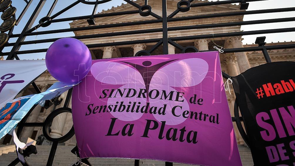 La organización Sensibilización Central Argentina se concentró este mediodía. Foto: Víctor Carreira