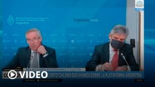 Solá explicó que no hay otra manera de resolver el litigio con Chile que no sea con negociación