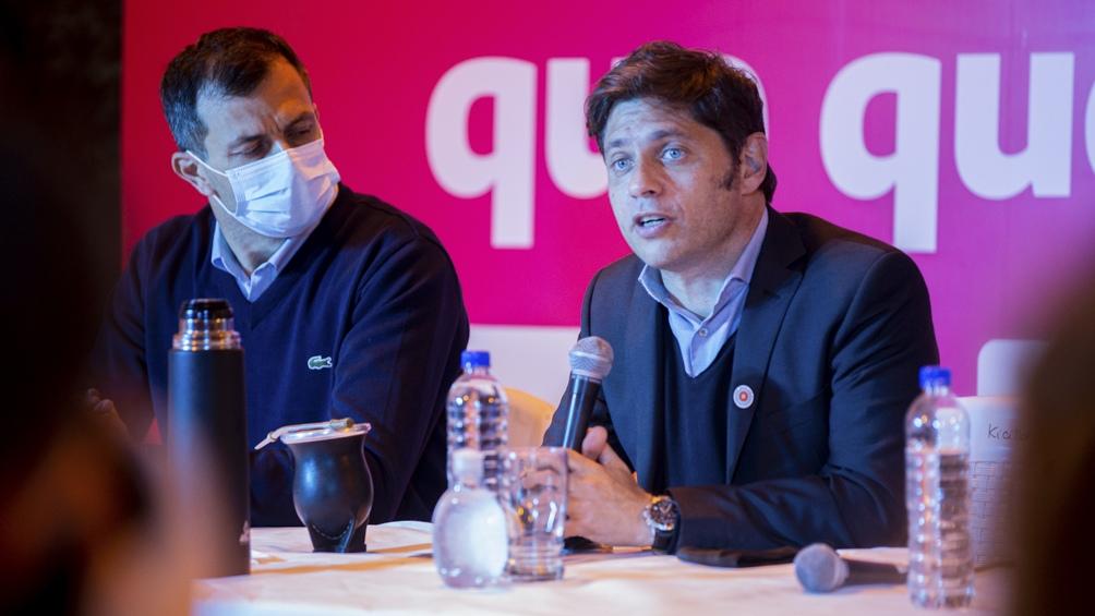 """""""Tenemos que decirles que sabemos del sufrimiento que pasaron"""", dijo el gobernador (Fotos: Prensa GBA)."""