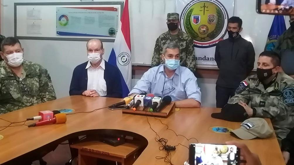 Los titulares de las fuerzas de seguridad del Paraguay se reunieron con el mandatario. Foto: Archivo