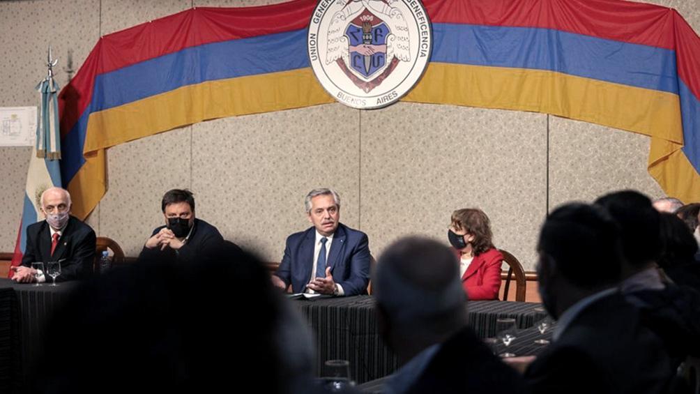 El Presidente reafirmó su compromiso por el caso de Arshak Kharanyan