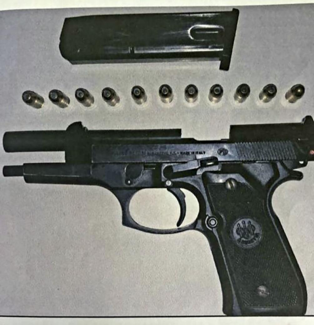 El arma que tenía Ibáñez.