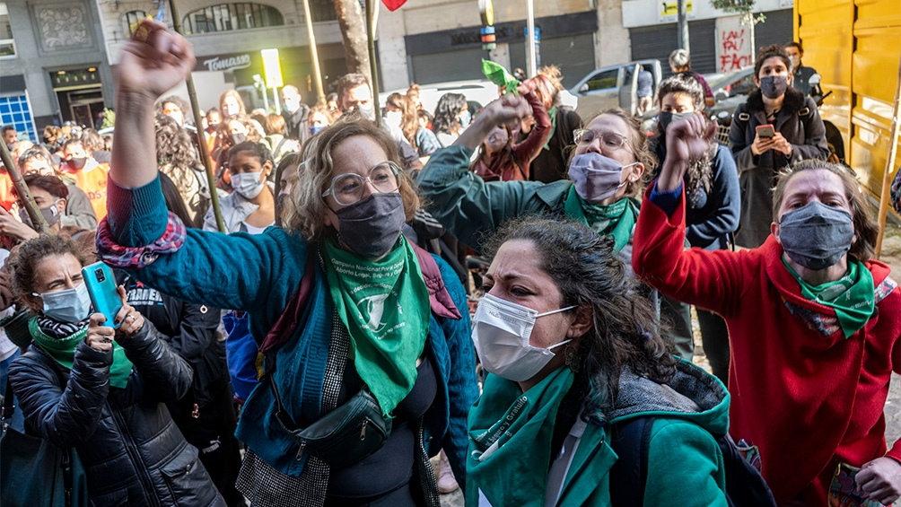 Manifestación en CABA. Foto: Pepe Mateo.