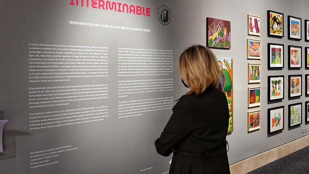 """""""El ojo Interminable"""" se inspira en el título de un texto de Yogurto, nombre artístico de Eduardo Álvarez (1951)."""
