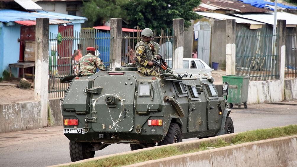 Imágenes del último golpe militar en Guinea..Foto: AFP
