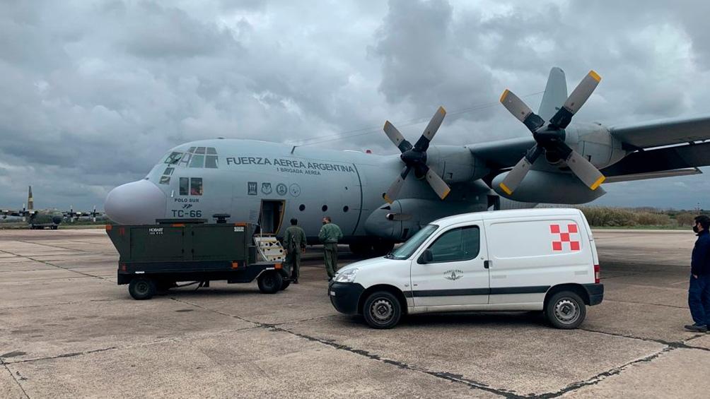 La llegada del material sanitario a Cuba.