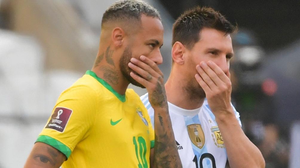 Neymar y Messi en el escándalo de la suspensión.