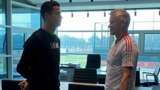 Cristiano Ronaldo volvió al centro de entrenamiento de Manchester United
