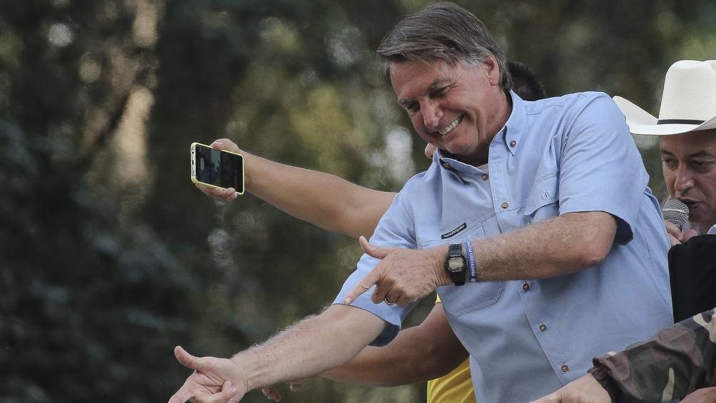 Bolsonaro aseguró que no dejará el cargo y atacó a la Justicia.  Foto: AFP