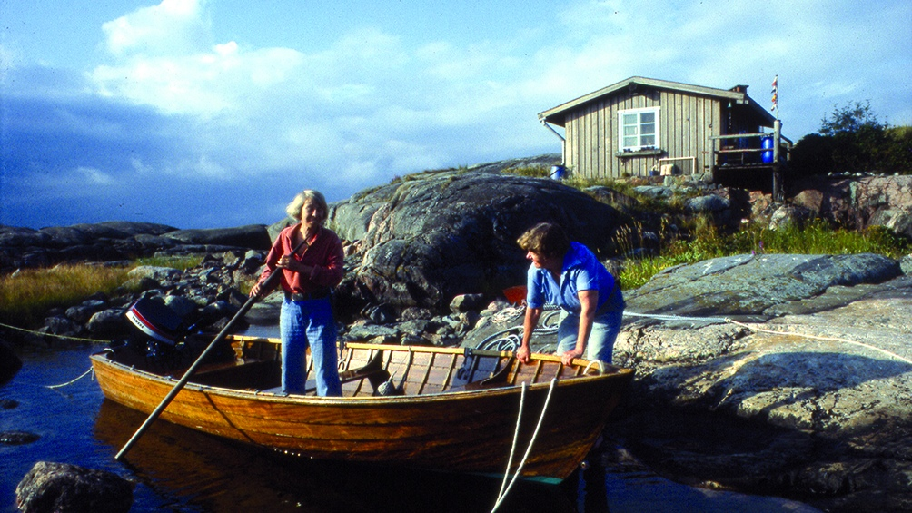 En la isla de Klovharu la autora recreó esa sensación de libertad de su niñez.