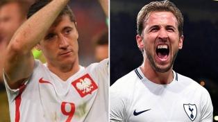 Inglaterra, con Harry Kane, visita a Polonia, con el goleador Lewandowski