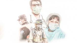 La AFA homenajeó al personal de salud y de seguridad con 300 invitaciones